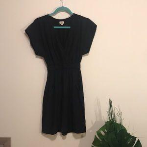 Wilfred 100% silk black dress